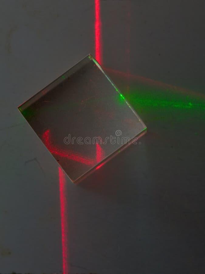 Experimento del laser fotos de archivo