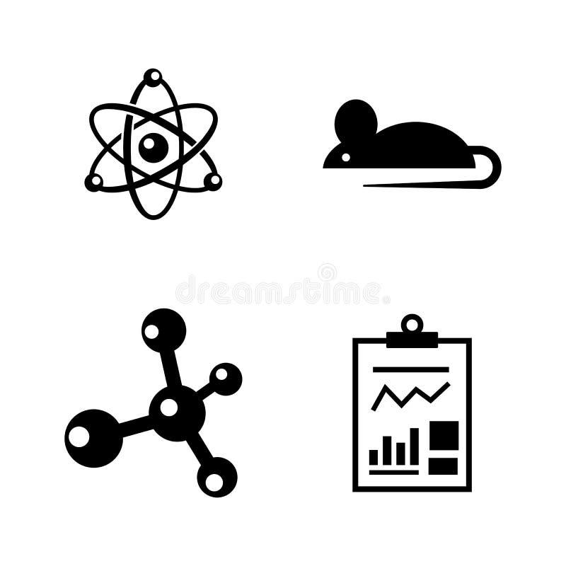experimento Iconos relacionados simples del vector stock de ilustración