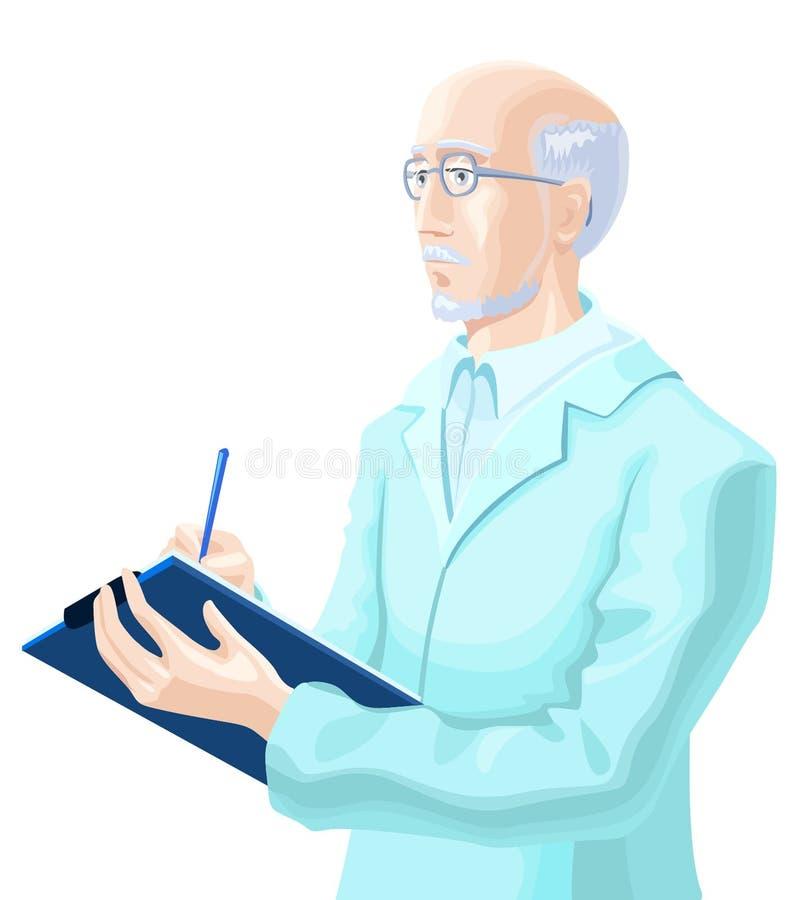 Download Expert stock illustration. Image of senior, writing, kind - 2800530