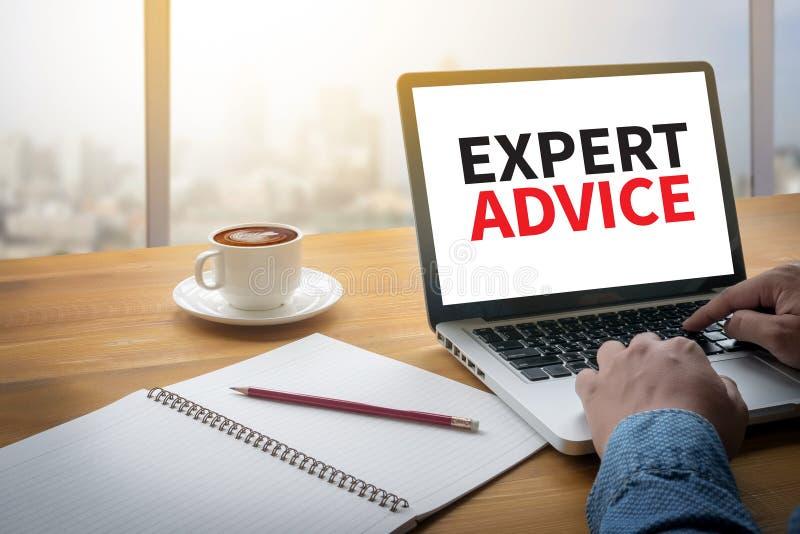 EXPERT ADVICE royalty free stock image