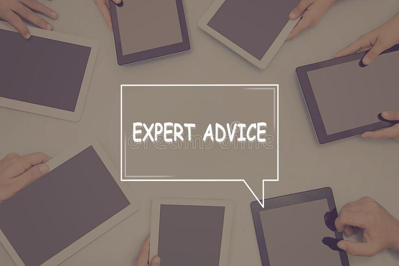 EXPERT ADVICE CONCEPT Business Concept. royalty free stock photos