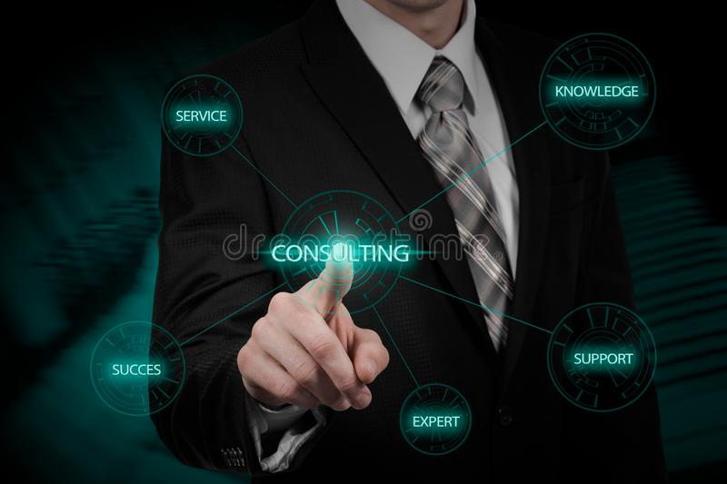 Expert Advice Consulting Service Business concept. stock images