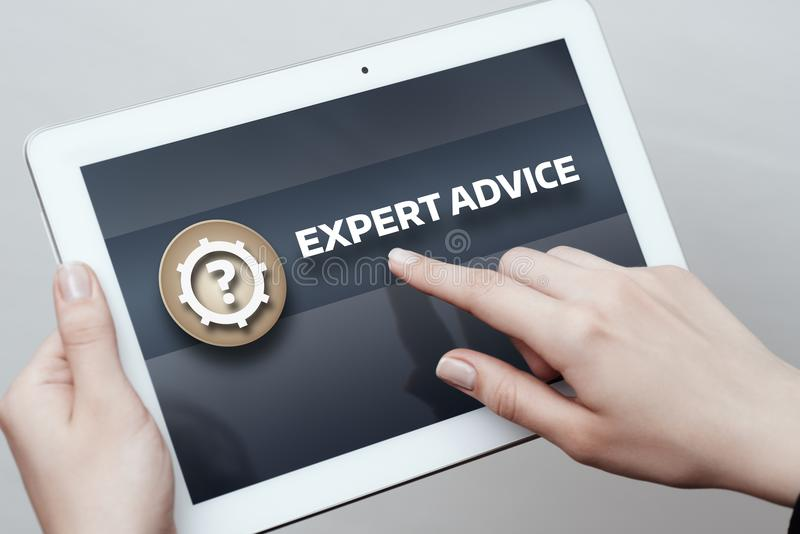 Expert Advice Consulting Service Business Help concept royalty free stock photos
