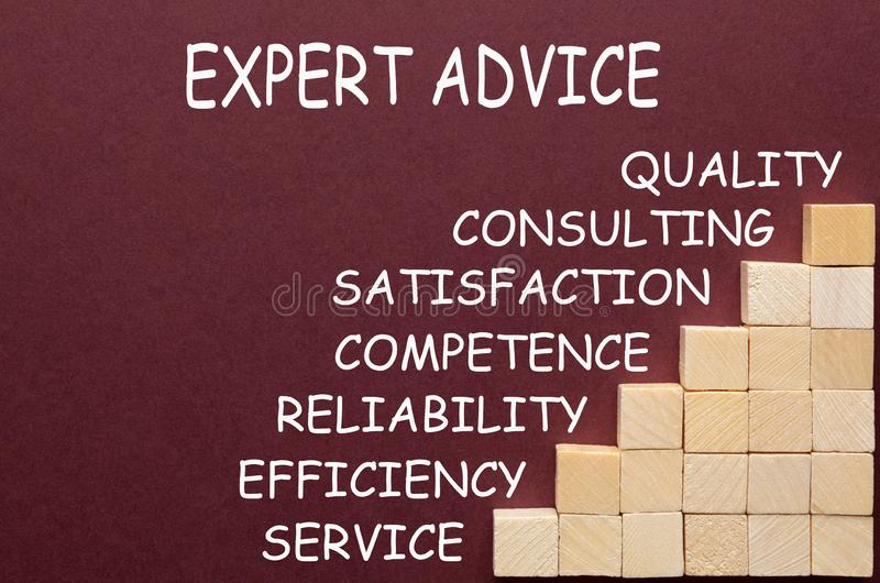 Expert Advice Diagram royalty free stock images