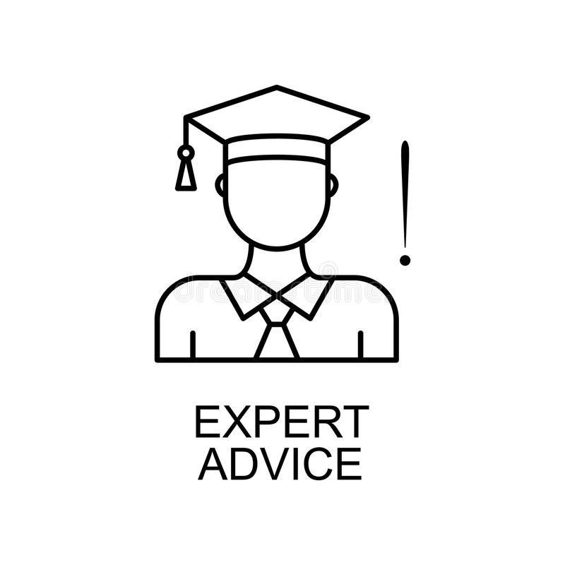 expert advice line icon. Element of human resources icon for mobile concept and web apps. Thin line expert advice icon can be used vector illustration
