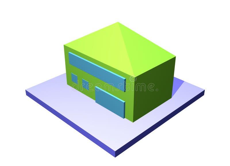 Expert en logiciel de bâtiment d'entrepôt de logistique de cargaison de constructeur illustration stock