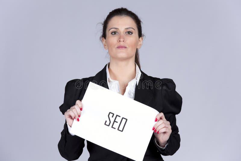 Expert en matière de SEO photo stock