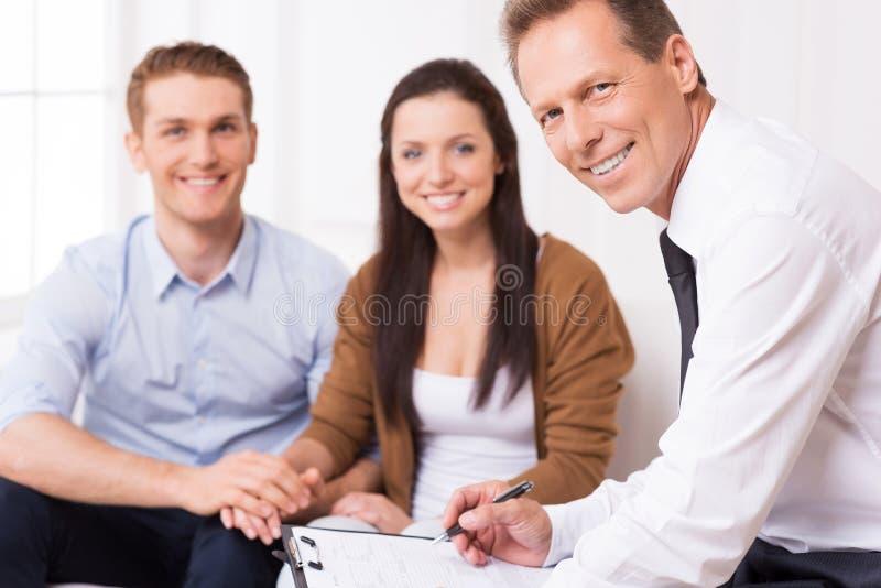 Expert financier sûr images stock