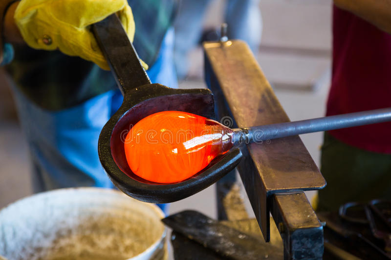 Expert Glassblower royalty free stock photography
