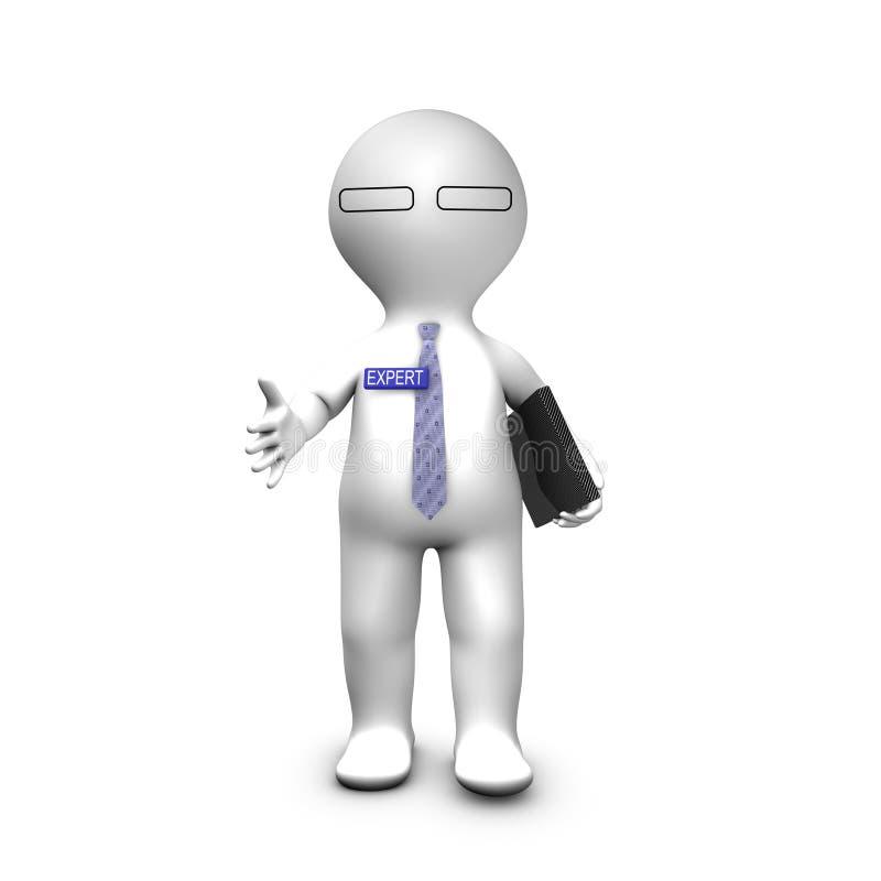 expert handhandsh för konsulent hans sträckning stock illustrationer