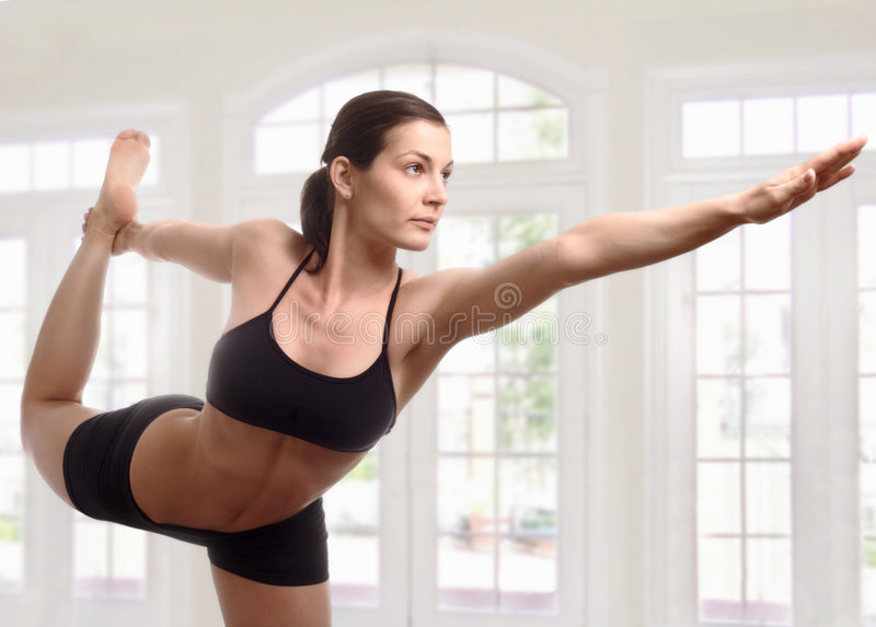 Expert yoga pose royalty free stock photo