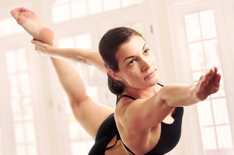 Expert yoga pose stock photos
