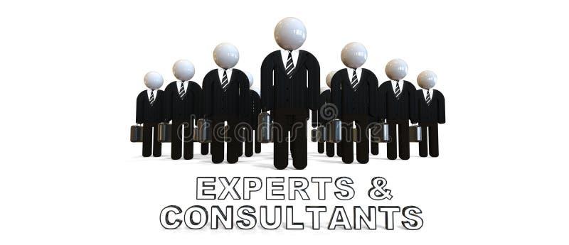 Experter och Consultats stock illustrationer