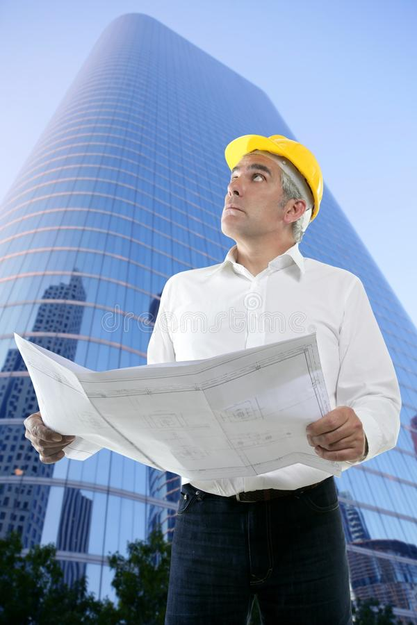Download Expertise Architect Engineer Plan Looking Building Stock Image - Image: 15585715