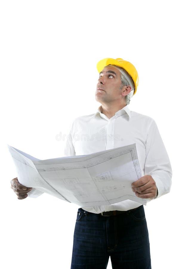 Download Expertise Architect Senior Plan Looking Up Stock Image - Image: 14887433