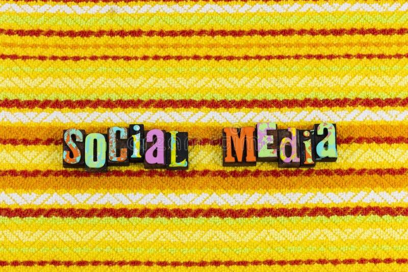 Expertise sociale de communication de médias images stock