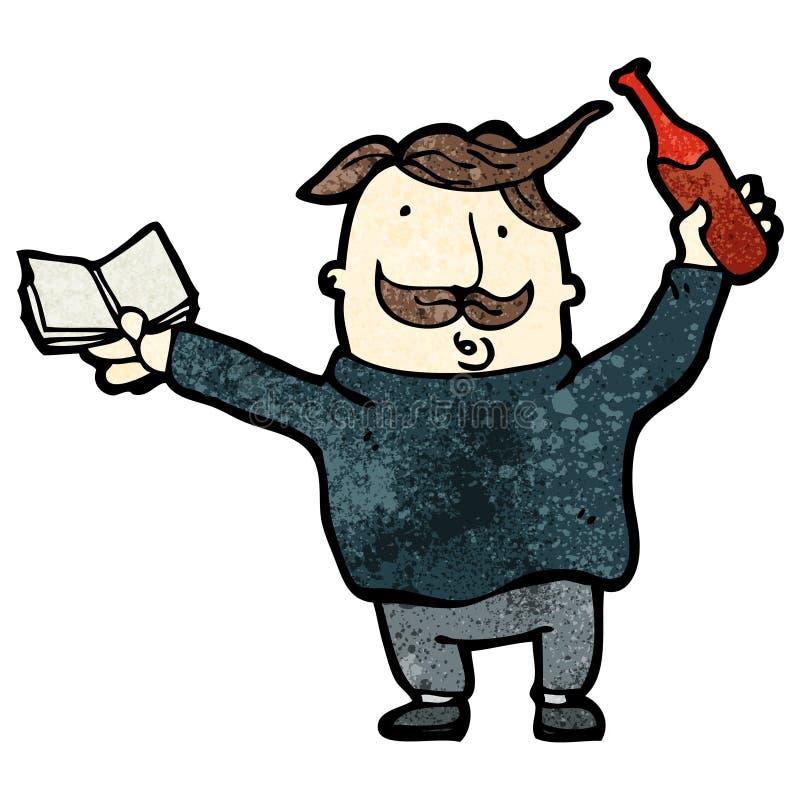 experto del vino de la historieta libre illustration