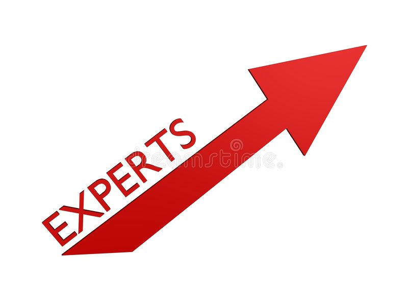 Experts pointer stock image