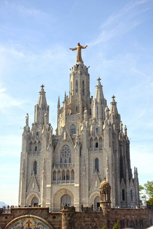 Expiatory Church of the Sacred Heart on the Tibidabo, Barcelona. Catalonia, Spain stock photo
