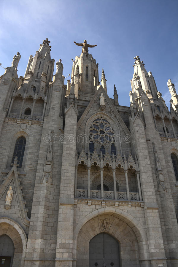 Expiatory Church of the Sacred Heart on the Tibidabo, Barcelona stock photo