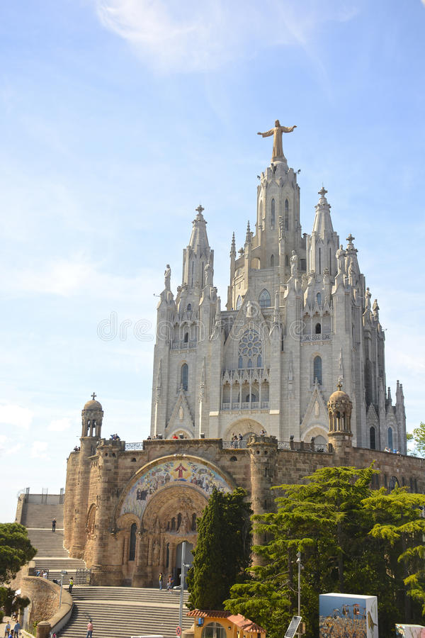 Expiatory Church of the Sacred Heart on the Tibidabo, Barcelona stock photography