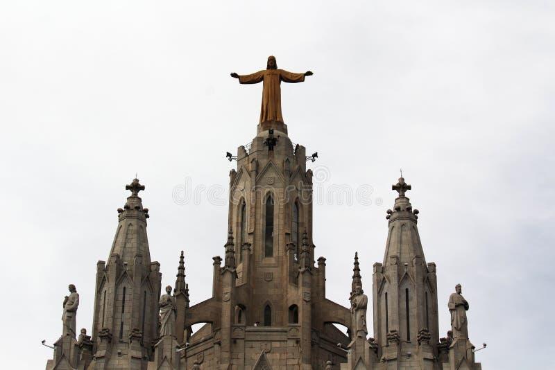 Expiatory Kerk van het Heilige Hart van Jesus, Tibidabo-berg, Barcelona royalty-vrije stock afbeeldingen
