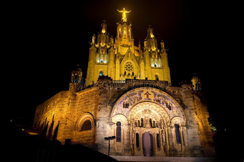 Expiatory Tempel van het Heilige Hart (Barcelona) stock foto's