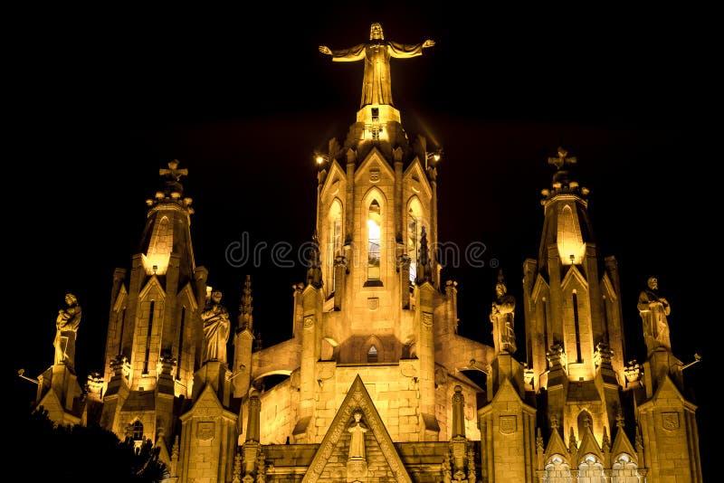 Expiatory Tempel van het Heilige Hart (Barcelona) stock fotografie