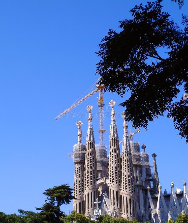 The Expiatory Temple of the Sagrada Familia, basilica in Barcelona,. Catalonia. Spain. Europe. The Expiatory Temple of the Sagrada Familia, known as the Sagrada stock image