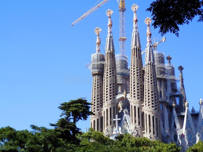 The Expiatory Temple of the Sagrada Familia, basilica in Barcelona, . Catalonia. Spain. Europe. The Expiatory Temple of the Sagrada Familia, known as the stock photography