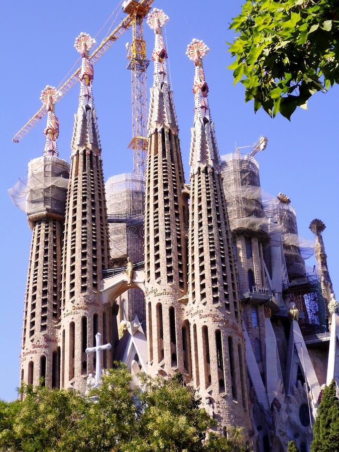 The Expiatory Temple of the Sagrada Familia, basilica in Barcelona,. Catalonia. Spain. Europe. The Expiatory Temple of the Sagrada Familia, known as the Sagrada stock images