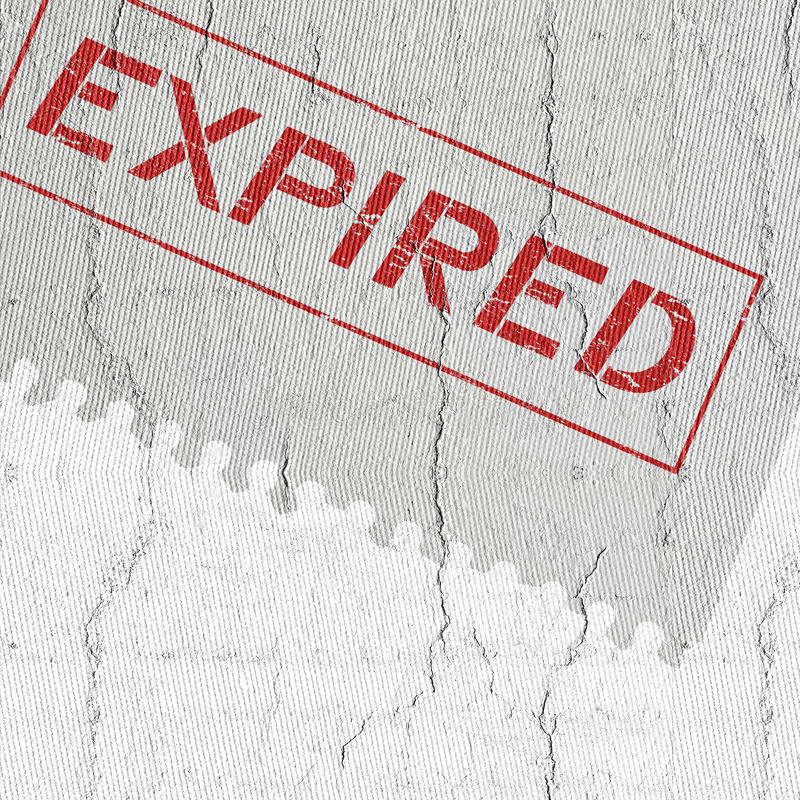 Expired cover royalty free stock photo