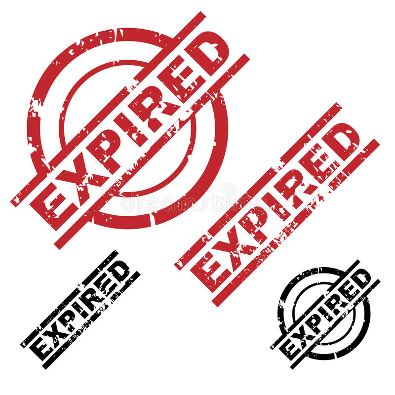 Expired grunge stamps royalty free illustration