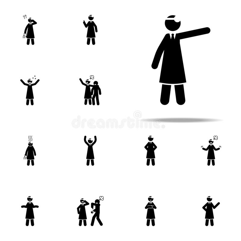 Explain, doctor icon. doctor icons universal set for web and mobile. On white background vector illustration