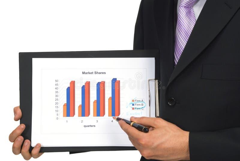 Download Explaining Business Chart Stock Image - Image: 865931