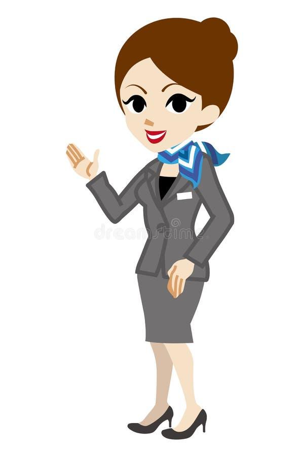 Explaining Concierge. Woman. Vector Illustration vector illustration
