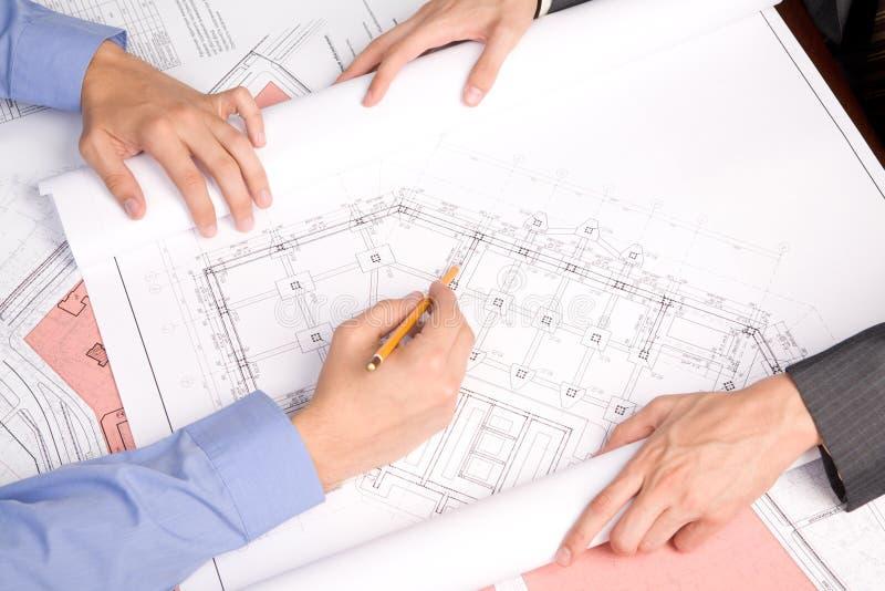 Explaining new project stock photos