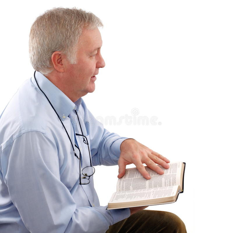 Explaining The Scripture Stock Image