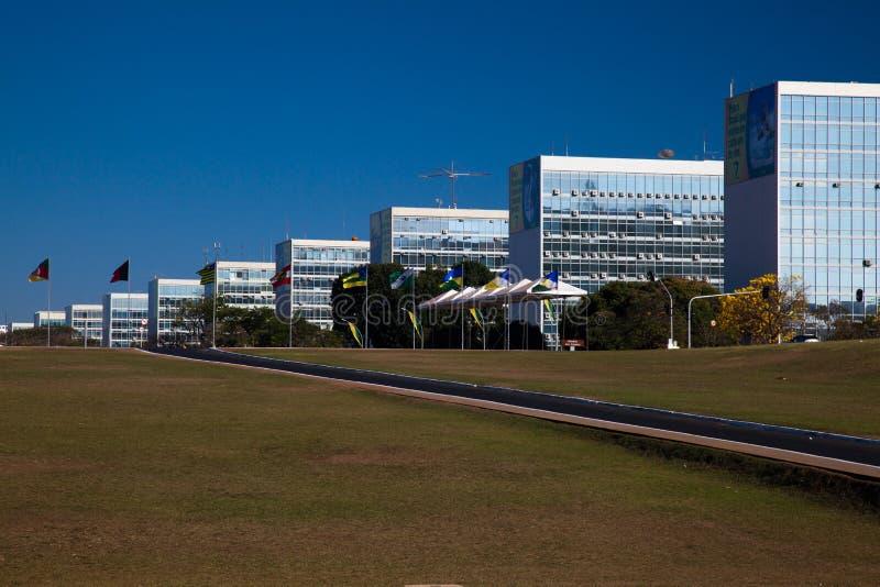 Explanada Brasilia de los ministerios imágenes de archivo libres de regalías