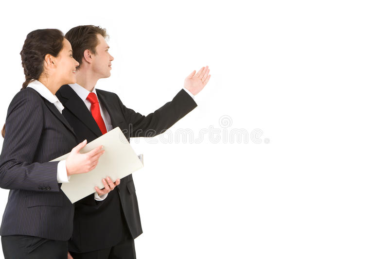During explanation stock images