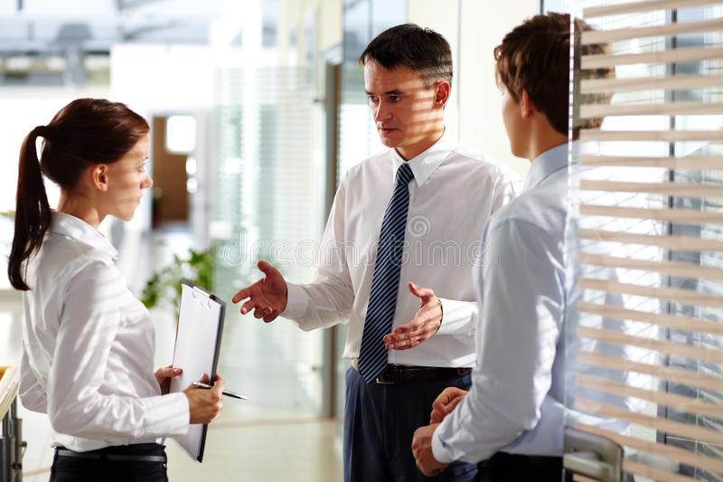 Download Explanation of tasks stock photo. Image of businessperson - 24237578