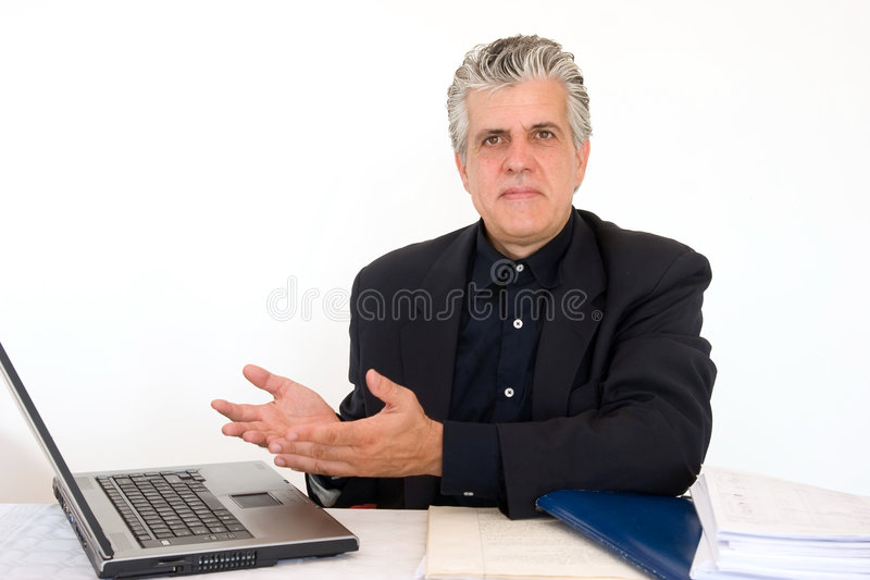 Explaning the concept stock photo