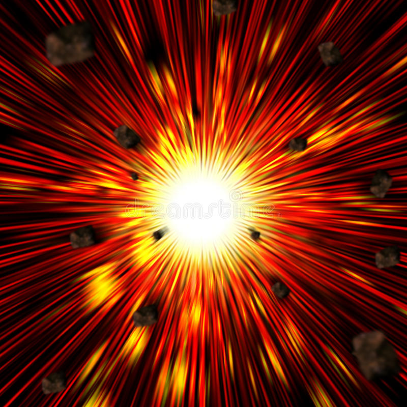 Explode royalty free stock images