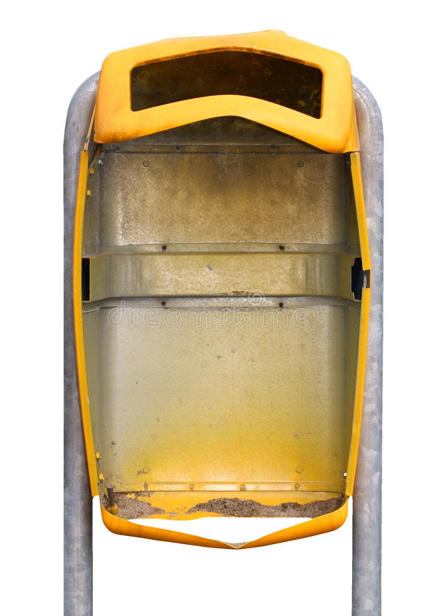 Download Exploded trashcan stock image. Image of yellow, vandal - 13204487