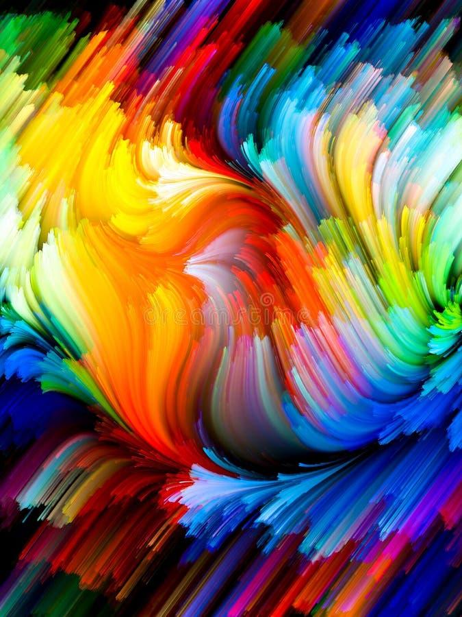 Exploderande färg vektor illustrationer