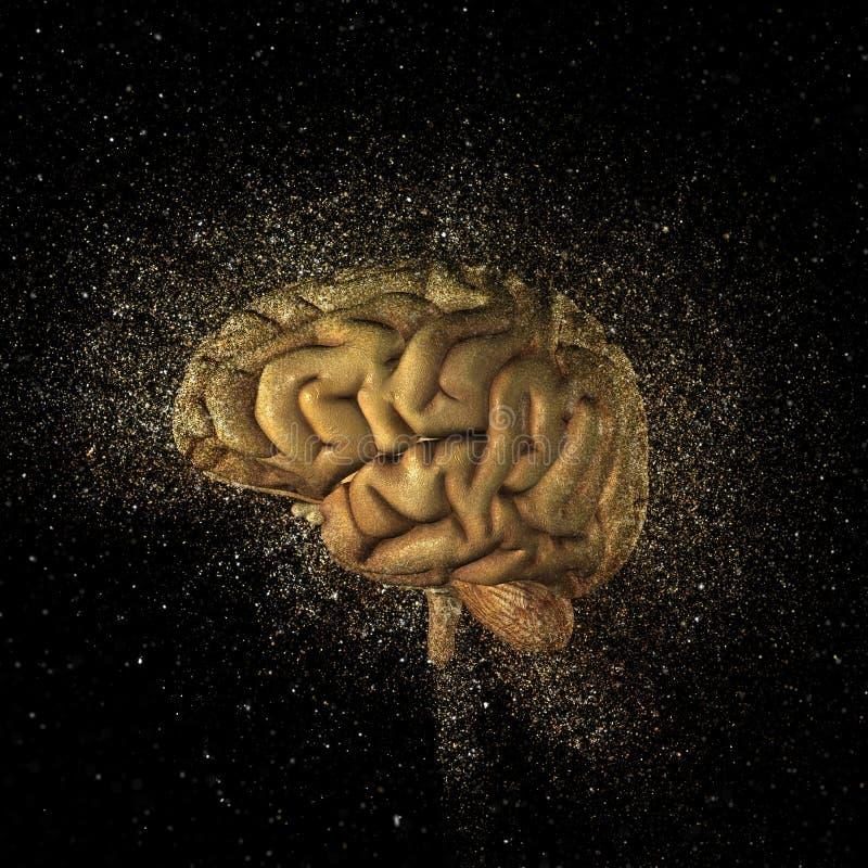 exploderande hjärna 3D stock illustrationer