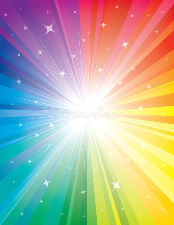 Exploderende Achtergrond van Kleur. vector illustratie
