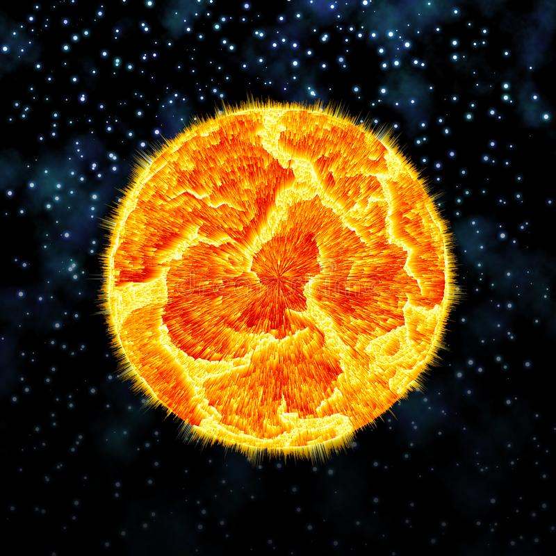 Exploderende planeet stock foto