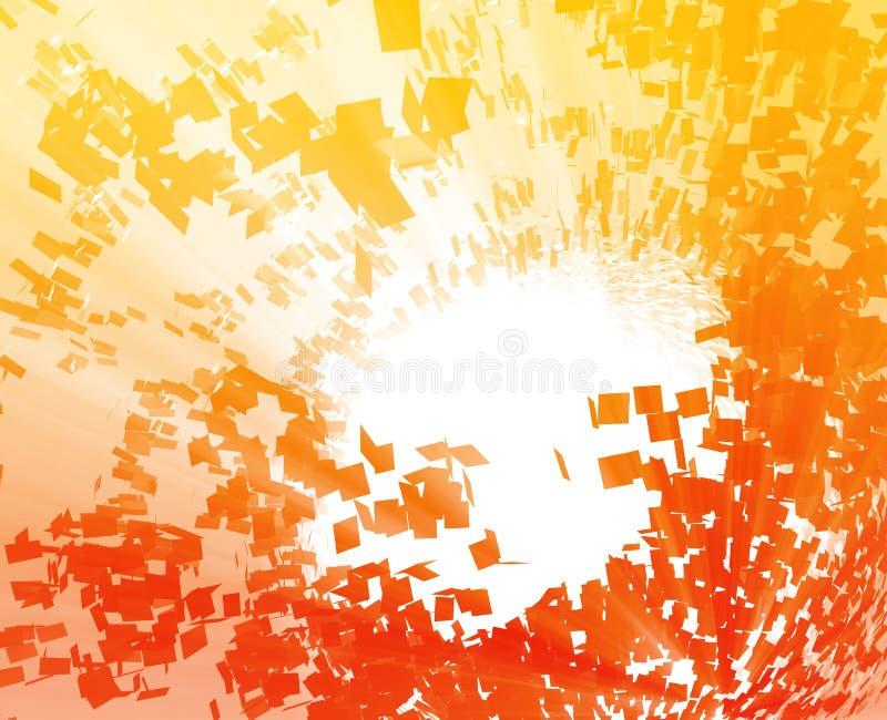 Exploderende samenvatting vector illustratie