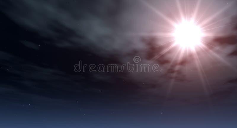 Exploderende ster stock afbeelding